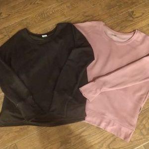 Two sweatshirts